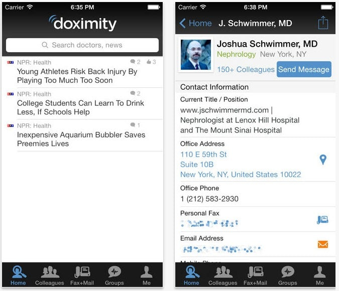 HIPAA compliant social network for doctors