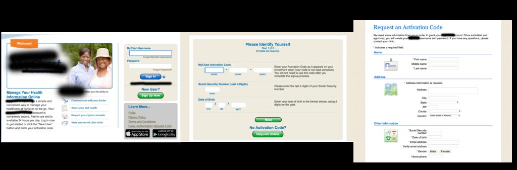 Patient portal registration