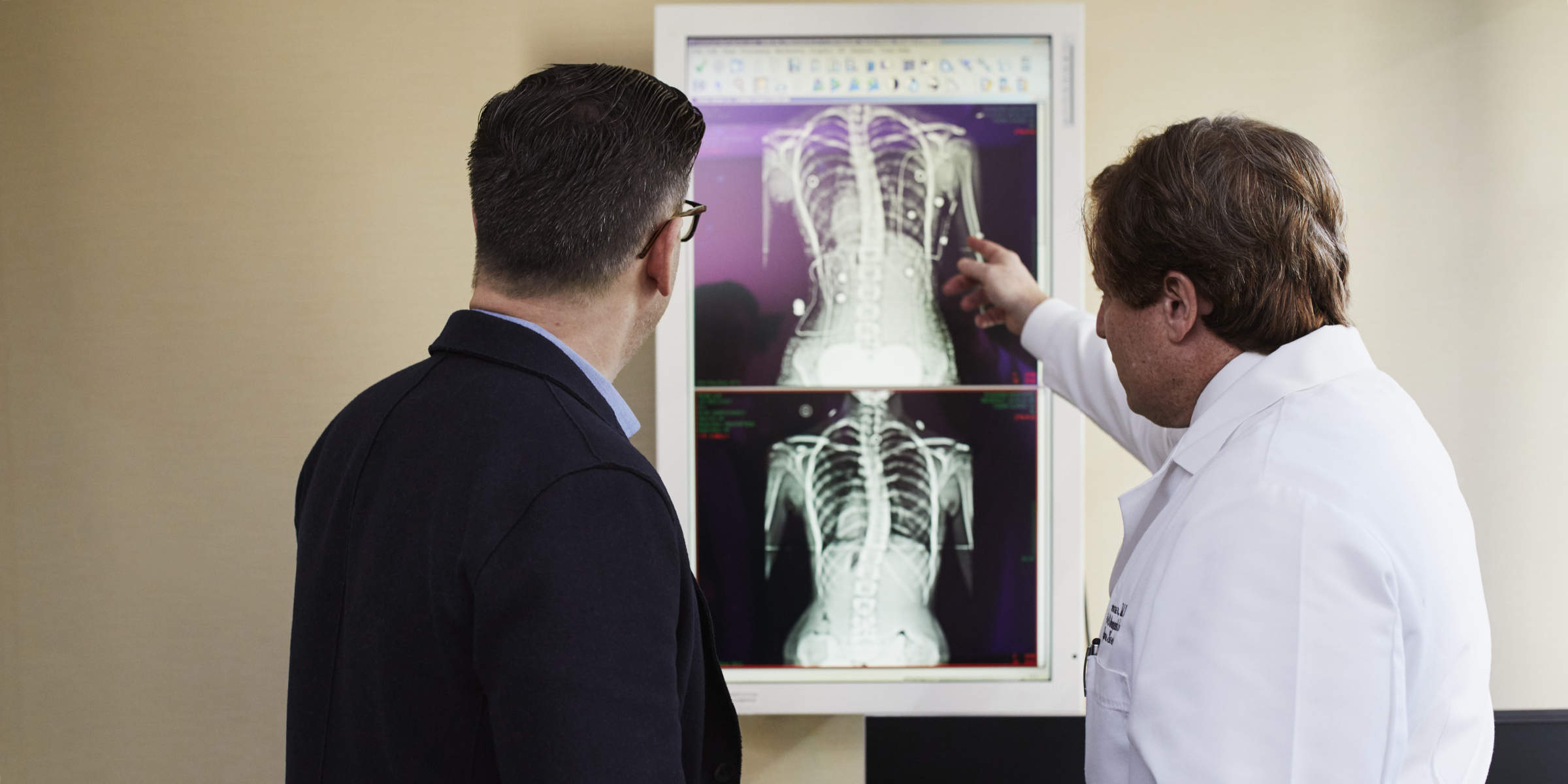 Discussing X-rays to maintain patient relationships